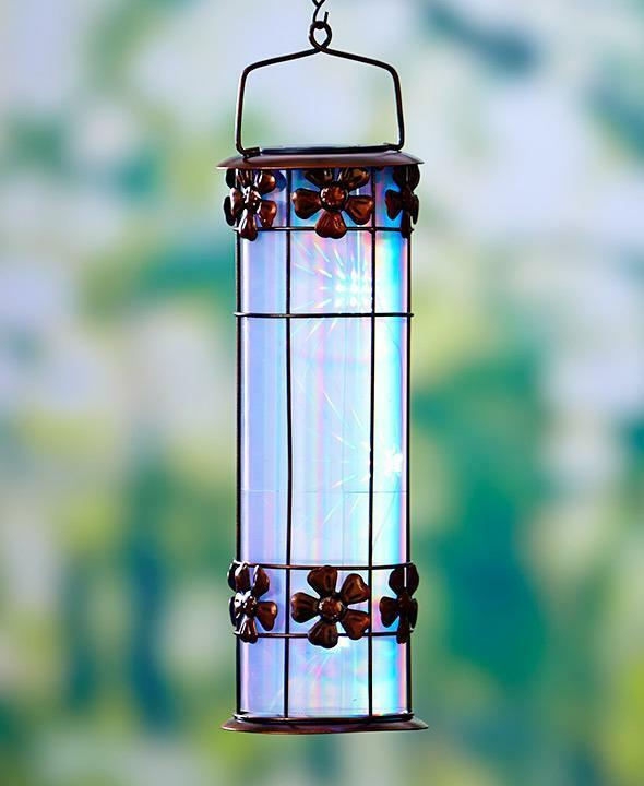 Decorative Outdoor Lighting: 3D SOLAR PRISM FLOWER LANTERN HANGING OUTDOOR GARDEN HOME