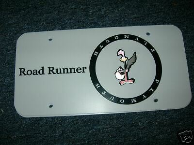 plymouth road runner license plate  ebay