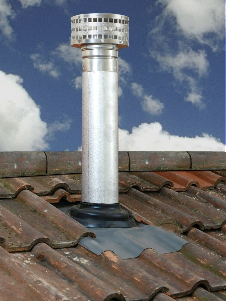 Selkirk 5 il gas vent twin wall chimney flue roof kit for Twin chimneys