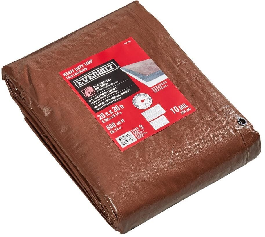 Large Brown Heavy Duty Tarp Shade Roof Cover Protector