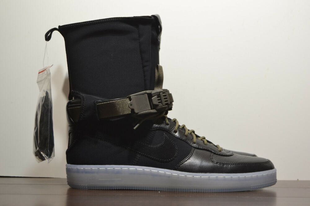 f37edc68787 Details about New Mens Nike x Acronym Air Force 1 Downtown Hi SP Black  Olive High 649941-003