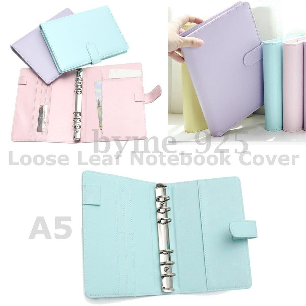 1Pc 3 Types A5 Loose Leaf Ring Binder Notebook Weekly