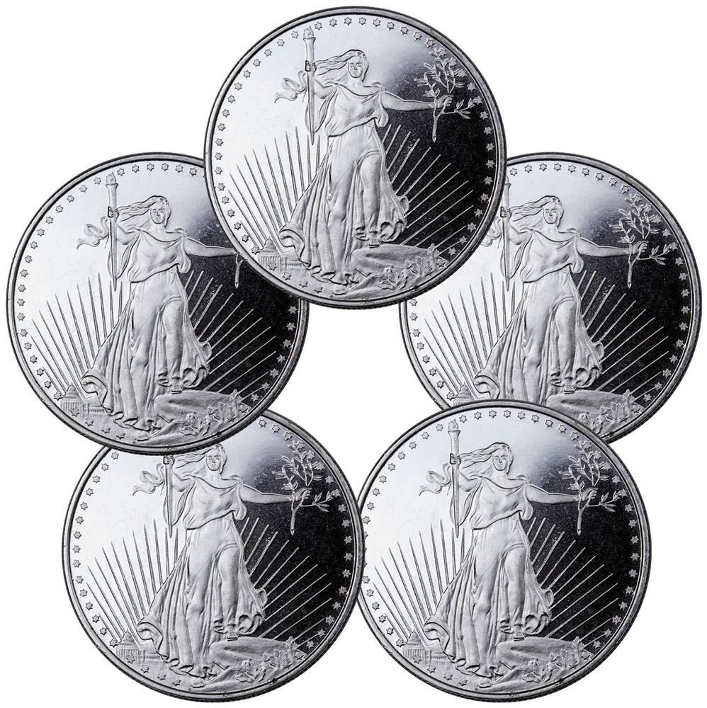 Highland Mint 1 Oz Silver Saint Gaudens Design Round