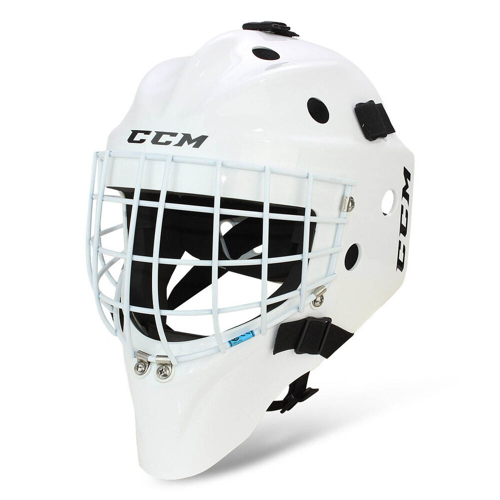 New CCM 7000 SB Std goalie face mask size junior white jr ...