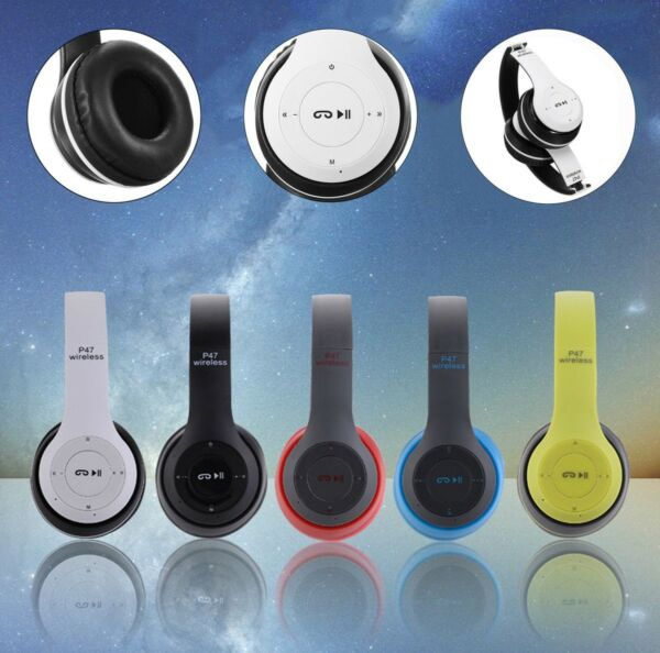 CUFFIE STEREO BLUETOOTH WIRELESS MICROFONO PER SAMSUNG HUAWEI IPHONE IPAD 4.2