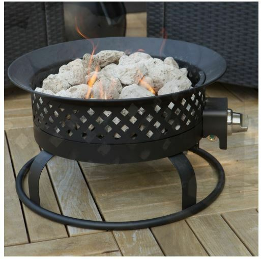 Patio Fire Pit Outdoor Gas Fireplace Portable Campfire