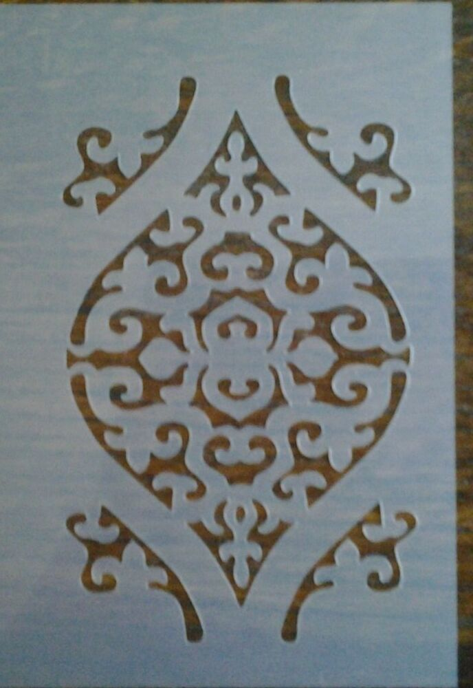 Scroll pattern mylar reusable stencil airbrush art craft for Arts and crafts stencils craftsman
