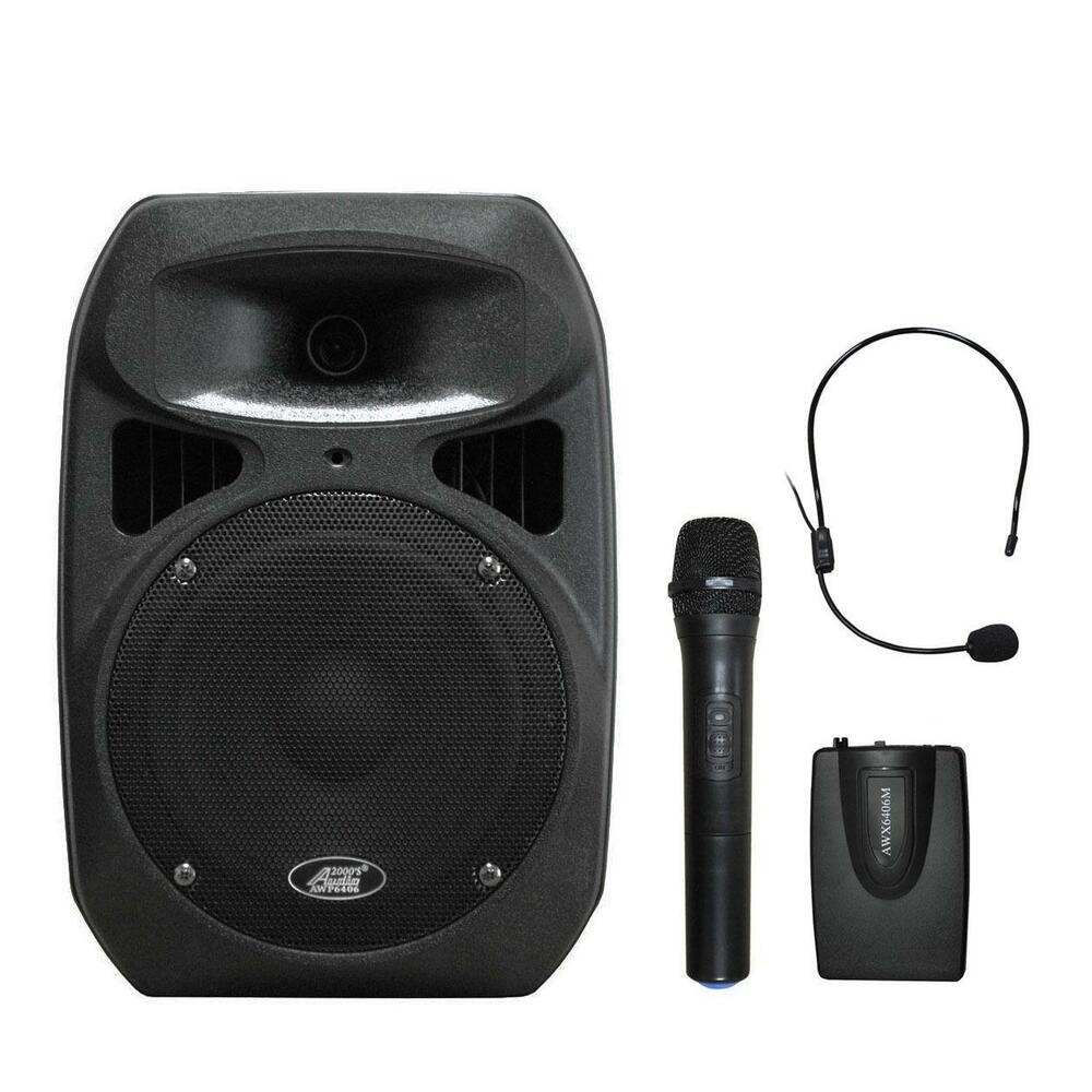 audio2000 39 s 6406x dual channel wireless microphone portable pa system mr ebay. Black Bedroom Furniture Sets. Home Design Ideas