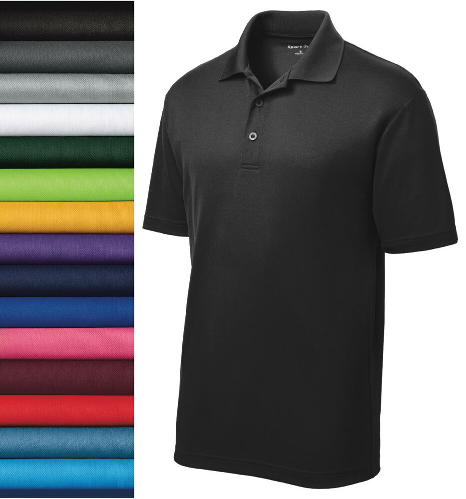 New sport tek casual golf dry fit sport shirt polo st640 for What is a sport shirt