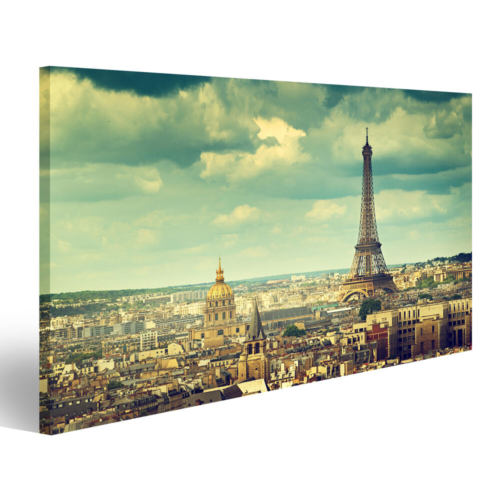 eiffelturm paris bild auf leinwand poster acr 1k ebay. Black Bedroom Furniture Sets. Home Design Ideas