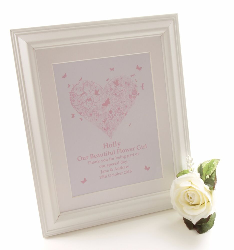 Unique Personalised Flower Girl Framed Print gifts Unusual present ...