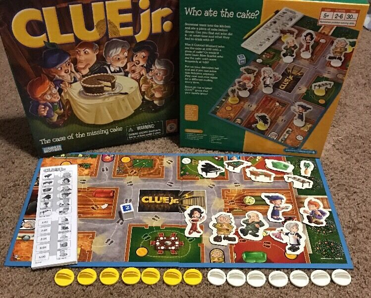 Clue Junior Jr The Case Of The Missing Cake Board Game Euc Ebay