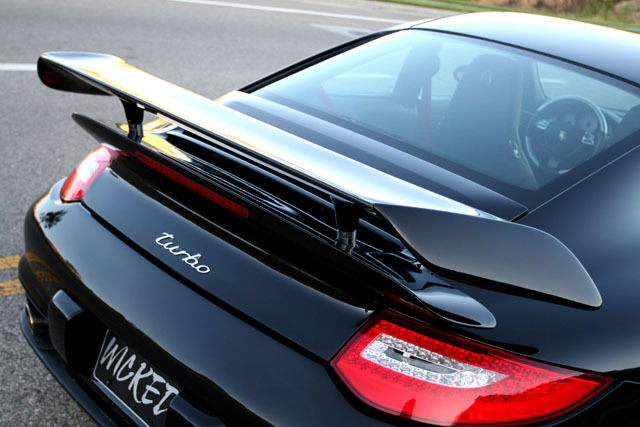 Porsche 997 Turbo Gt2 Hydrolic Bi Wing Spoiler With Carbon