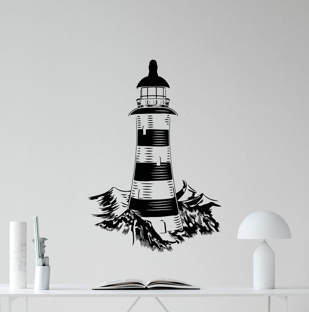 Lighthouse Wall Decal Bathroom Vinyl Sticker Sea Nautical Decor Art Poster 87