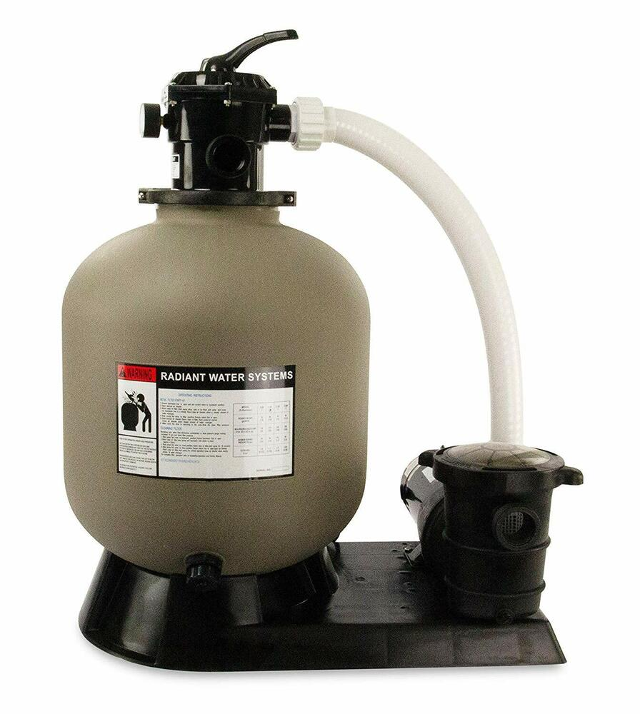 Rx clear radiant above ground swimming pool sand filter systems various sizes ebay - Pool filter sand wechseln ...