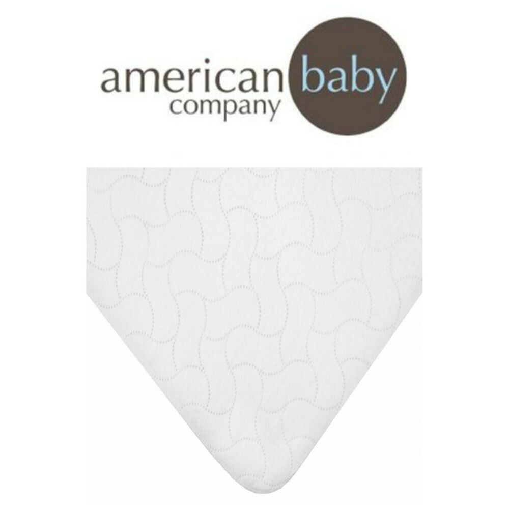 Toddler Mattress Pad Cover Waterproof Embossed Quilt Flat