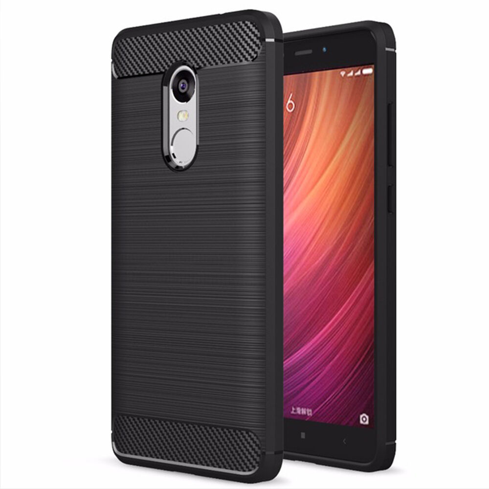 Carbon fiber soft back cover case for xiaomi redmi note 4x note 4 global version ebay - Xiaomi redmi note 4 case ...