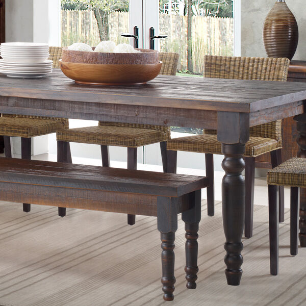 Dining Tables Benches: Rustic Dining Table Bench ONLY Farmhouse Kitchen Solid