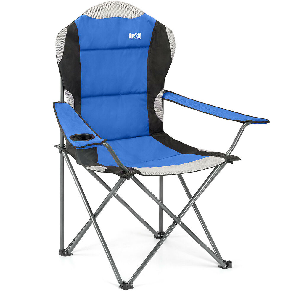 Luxury Padded Folding Camping Chair Heavy Duty Directors
