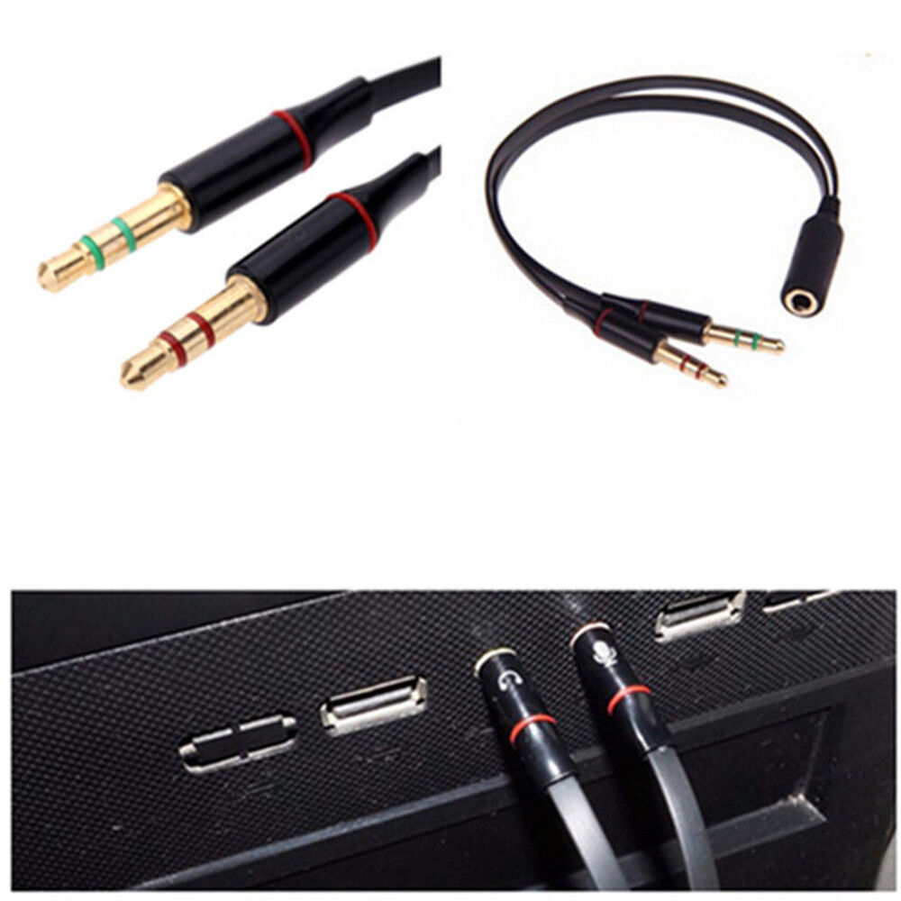 y splitter 1 female to 2 male mic stereo audio. Black Bedroom Furniture Sets. Home Design Ideas