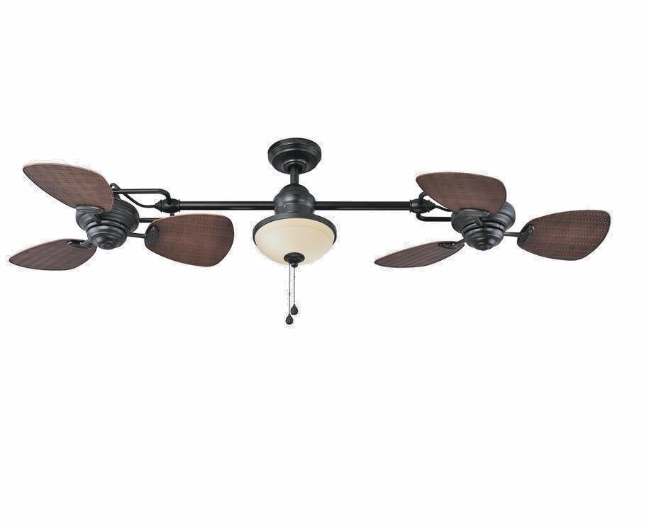 Ceiling Fan With Lights Bronze Downrod Mount Remote Control Modern ...