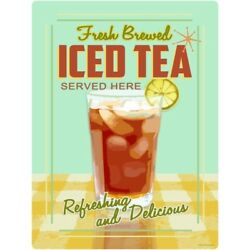 Iced Tea Fresh Brewed Here Wall Decal 12 x 16 Kitchen Removable Decor