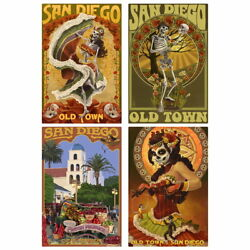 San Diego Old Town California Travel Wall Decal Set US Travel 10 x 16