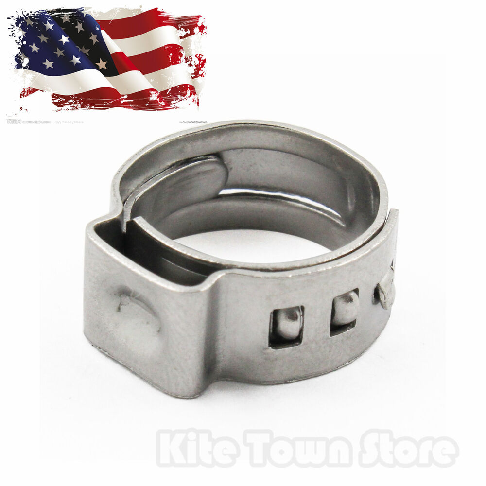 Pcs pex stainless steel clamp cinch rings crimp