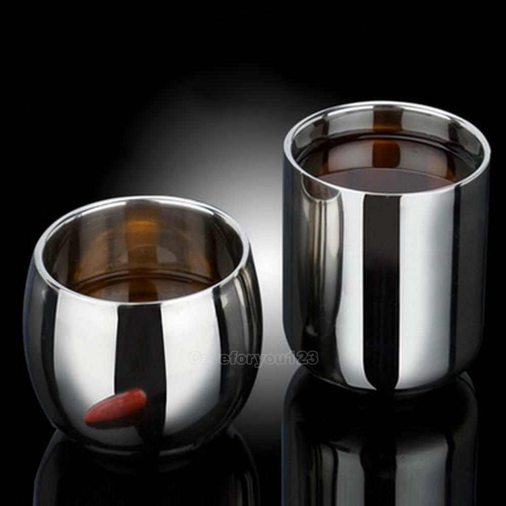 portable student stainless steel double wall mug travel tumbler coffee tea cup ebay. Black Bedroom Furniture Sets. Home Design Ideas