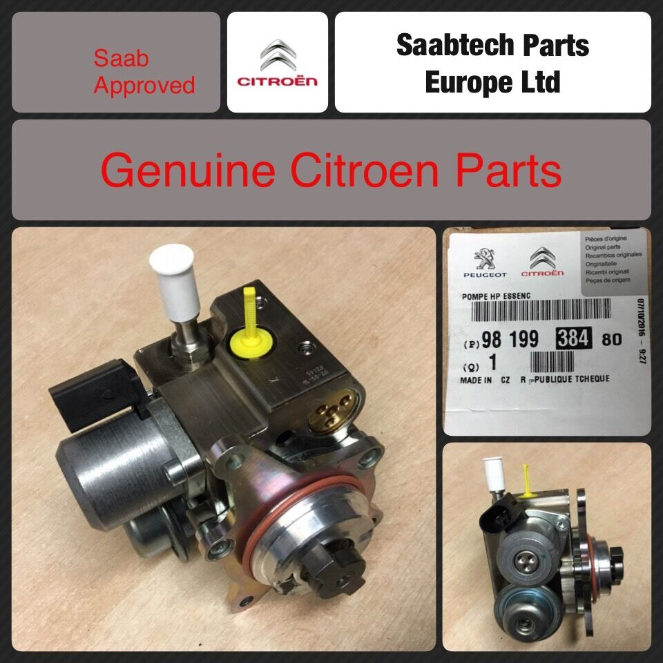 genuine citroen c4 c5 ds3 ds4 ds5 high pressure fuel pump 1 6 engine ebay. Black Bedroom Furniture Sets. Home Design Ideas