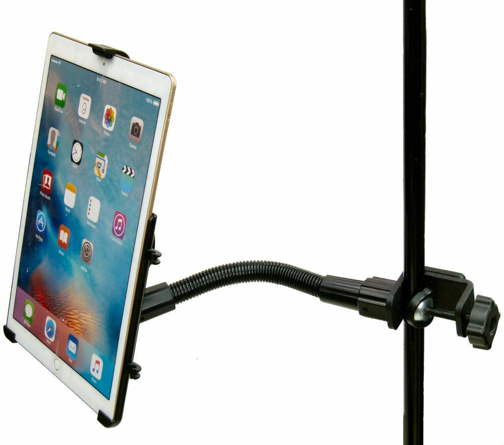 12 flexi arm form fit music mic stand clamp mount for apple ipad pro 12 9 5052010356221 ebay. Black Bedroom Furniture Sets. Home Design Ideas