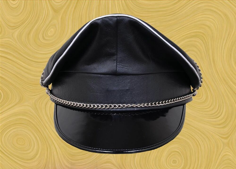 from Braylen gay leather police hat