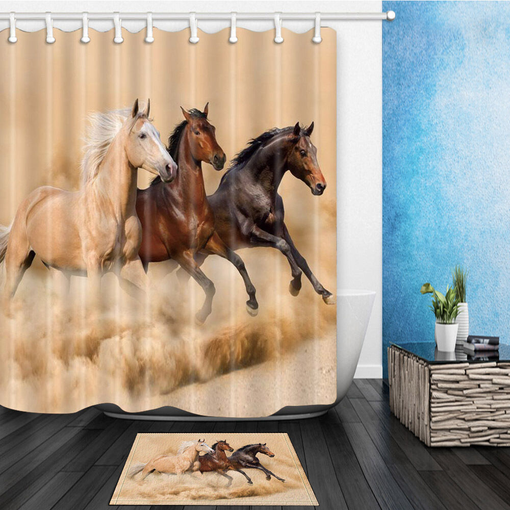 The Horse Theme Waterproof Fabric Home Decor Shower