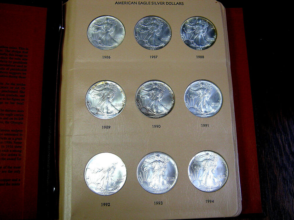 32 Coin Complete Set Silver American Eagle S In Dansco