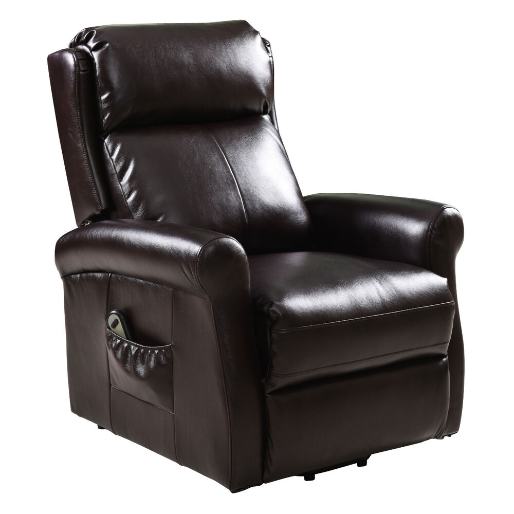 Electric Luxury Power Lift Recliner Chair Leather Lazy Man