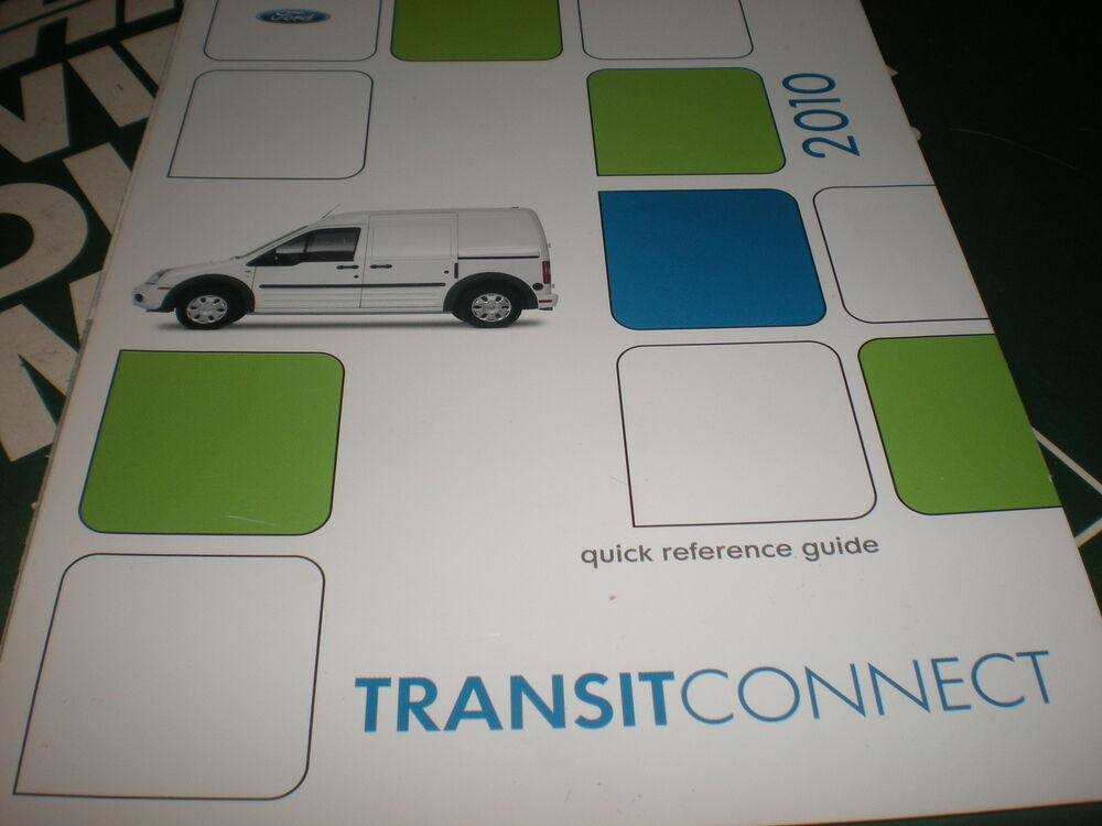 2010 ford transit connect owners manual