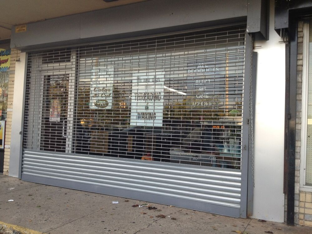 roll up door for sale grille type store front mall gate