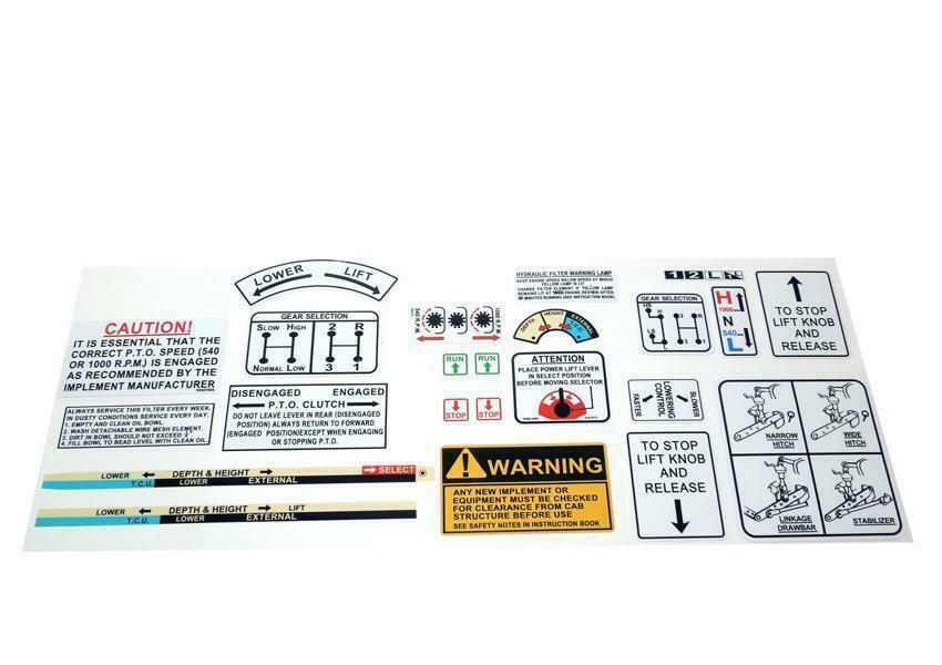 Tractor Pto Warning Decals : David brown tractor warning operations decal kit