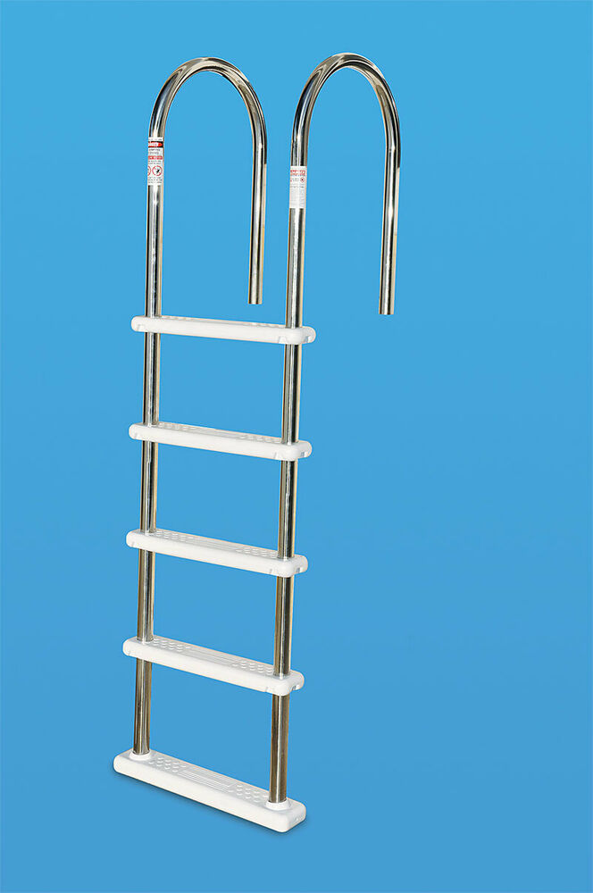 Swimline stainless steel in pool deck ladder for for Pool ladder