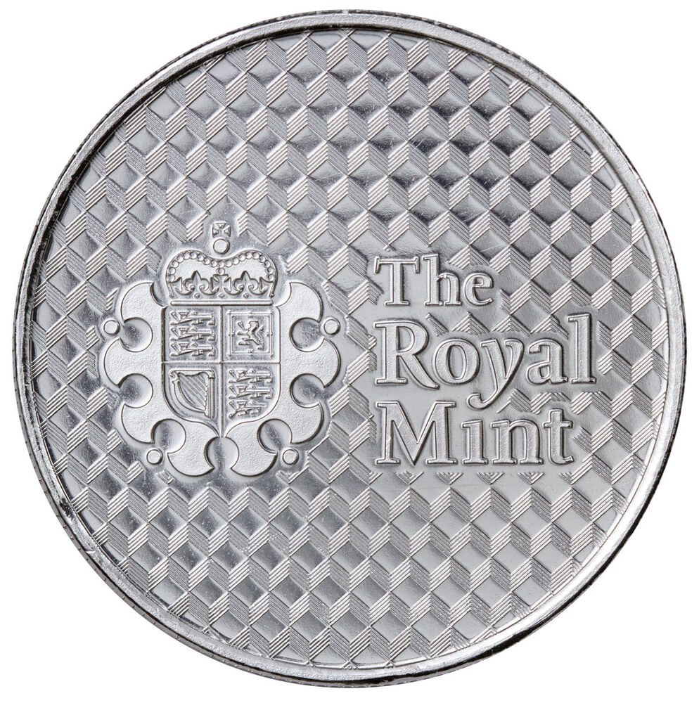 Royal Mint Center Shield 1 Troy Oz 999 Fine Silver Round