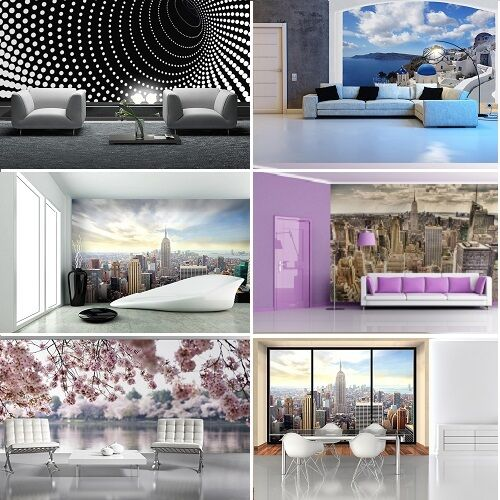 WALLPAPER MURAL PHOTO Cityscape GIANT WALL DECOR PAPER