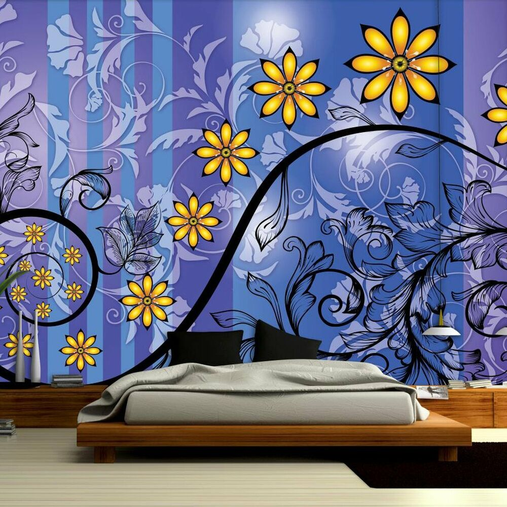 Beedroom Giant Wall Mural Photo Wallpaper Flowers