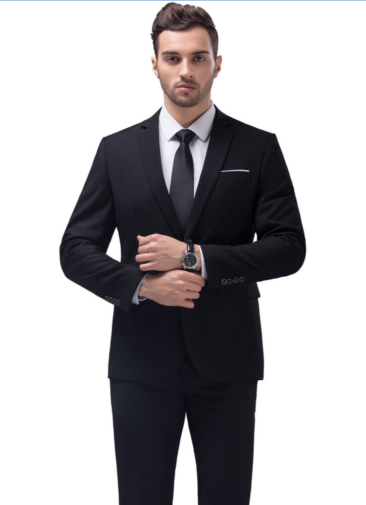 2017 New Style Men's Business Casual Suit Slim Wedding ...