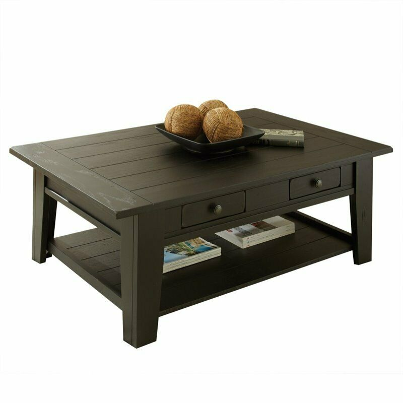 Steve Silver Liberty Coffee Table In Antique Black