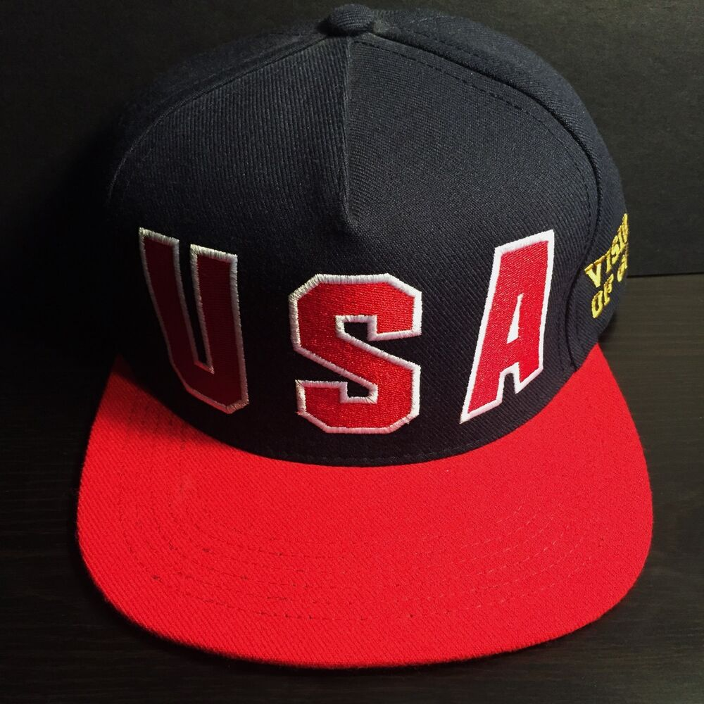 e85a7e5dba5 Details about SUPREME USA VISIONS OF GOLD 5 PANEL CAP HAT box logo olympics