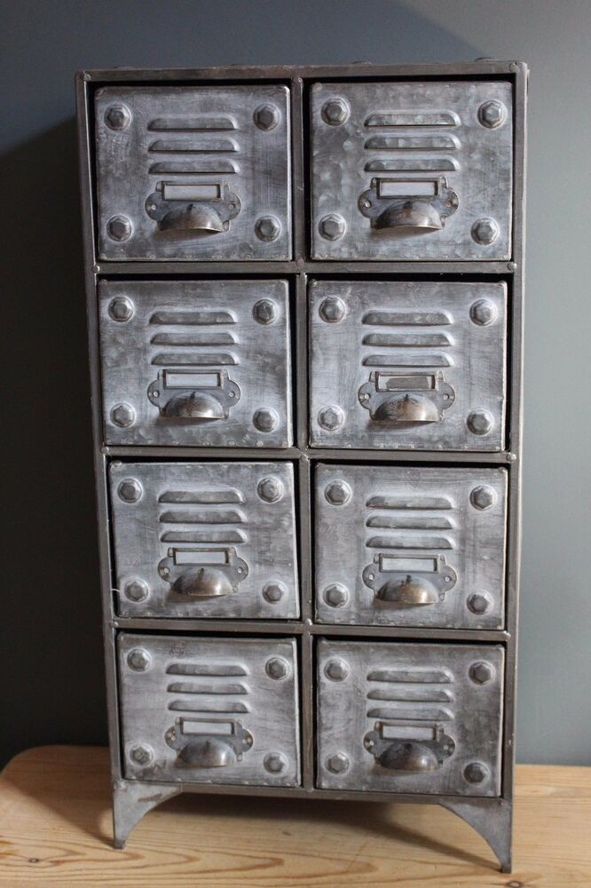 vintage metal cabinets industrial vintage retro style metal cabinet with 8 27991