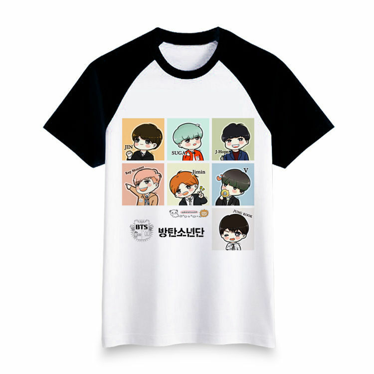 bangtan boys t shirt bts cotton tee cartoon tshirt kpop shoes with wings logo name shoes with wings logo vector