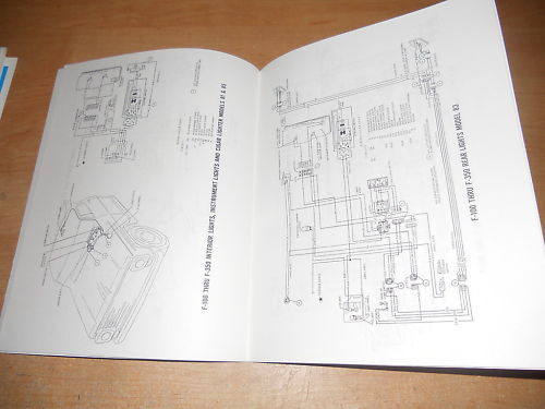 1968 Ford F450 F550 F650 F750 Wiring Diagrams Manual
