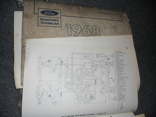 1968 Mercury Cougar And Xr7 Wiring Diagrams Schematics Sheets
