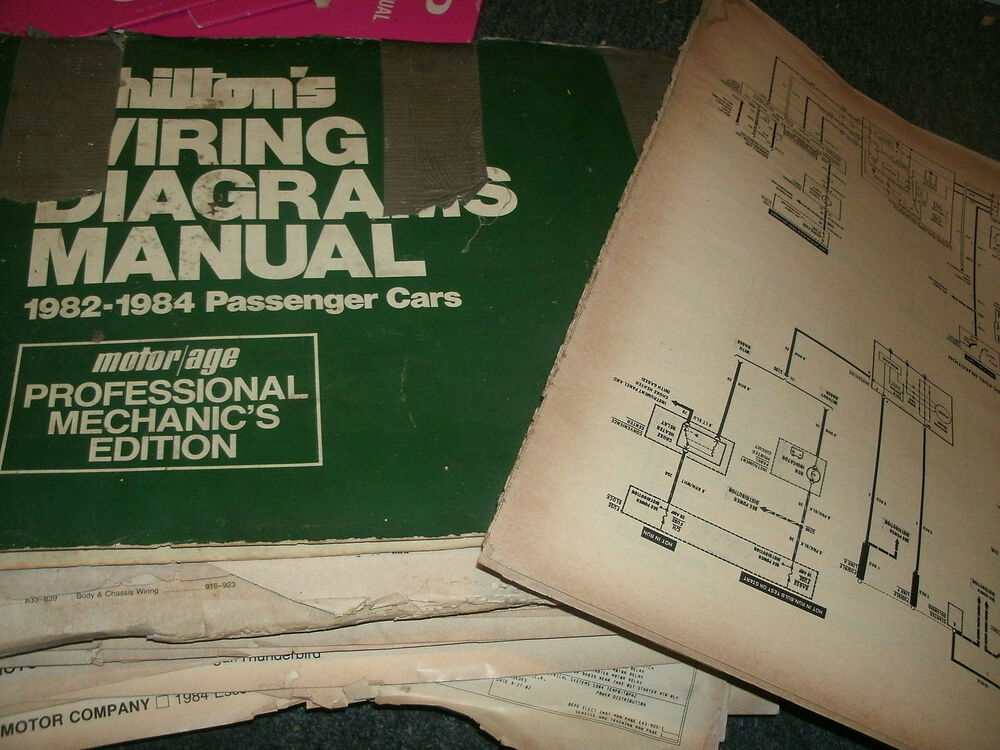 1983 Ford Thunderbird Mercury Cougar Xr7 Wiring Diagrams Schematics Sheets Set